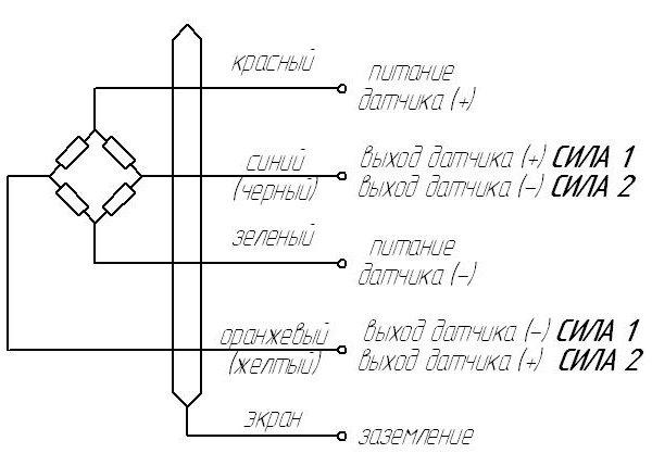 Схемы соединения тензодатчиков весов